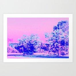 Rêve Bleu Art Print
