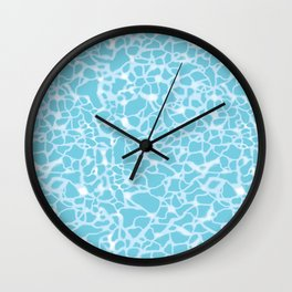 Pool Water Sparkles Wall Clock