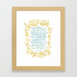 Take Delight in the Lord- Psalm 37:4-6 Framed Art Print