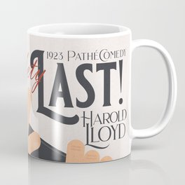 Safety Last!, Harold Lloyd movie poster, Hal Roach, 1923 film illustration Coffee Mug