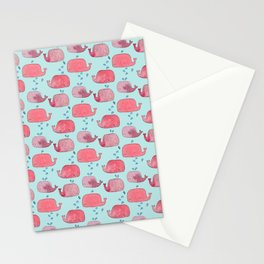 thousands of little pink wales Stationery Cards