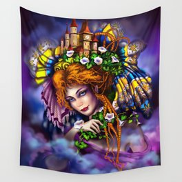 Fairy love and magic Wall Tapestry