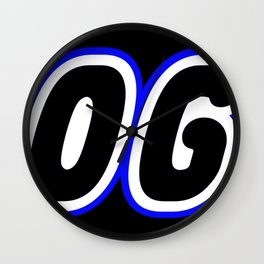 COGO in Brick Font Logo Design [Alternate Colors] by Chillee Wilson Wall Clock