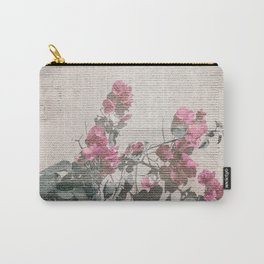 Shabby Chic Style Floral Photo Carry-All Pouch