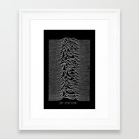 joy division Framed Art Prints featuring Joy Division by Abrian Sabo