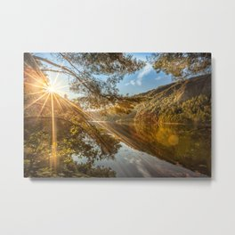 Morning over lake Wicklow Mountains Metal Print