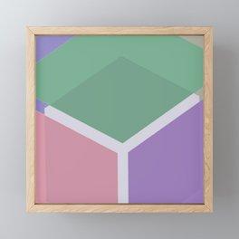 geometric Fantastic  shapes for summer 2019 Framed Mini Art Print