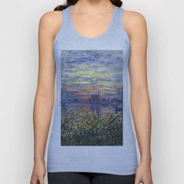 Claude Monet, French, 1840-1926 Marine View with a Sunset Unisex Tank Top