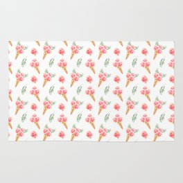 Floral Chill Rose Pattern Rug