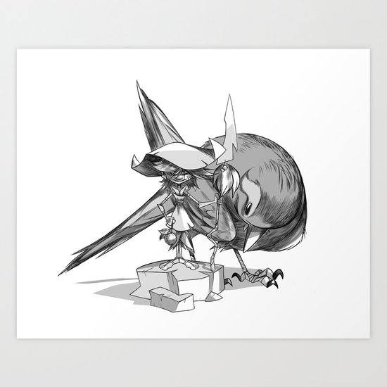 Witch Bird Art Print