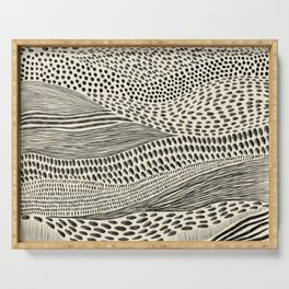 Hand Drawn Patterned Abstract II Serving Tray