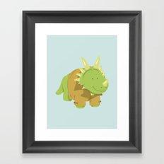 StyraCOATsaurus Framed Art Print