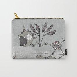Grey Shrieky Carry-All Pouch