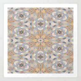 The Alamo Wall Kaleidoscope 6394 Art Print