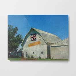 Corn Barn and Quilt Metal Print