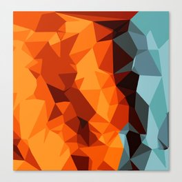 green blue brown orange and yellow abstract background Canvas Print