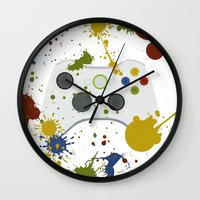 xbox Wall Clocks featuring Controller Graffitti XBOX by AngoldArts