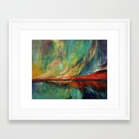 aurora Framed Art Prints featuring Aurora by Michael Creese