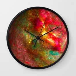 Fire Fairy In Paradi Wall Clock