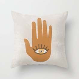 Hamsa, Hand of God#Art print#Society6 Throw Pillow