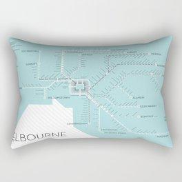 Melbourne Metromap Rectangular Pillow