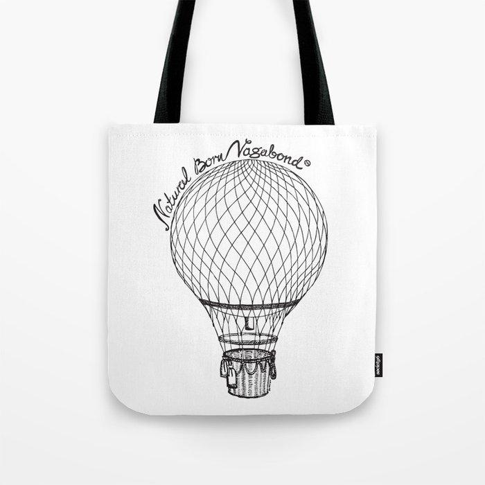 Vintage Hot Air Balloon - Natural Born Vagabond™ Tote Bag