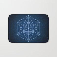 Sacred geometry / Minimal Hipster Symbol Art Bath Mat