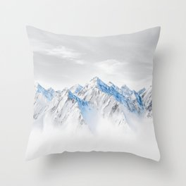 Snow Capped Mountains Throw Pillow