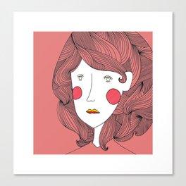 A Study in Hair Canvas Print