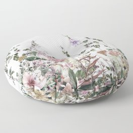 Vintage Field Flowers Floor Pillow