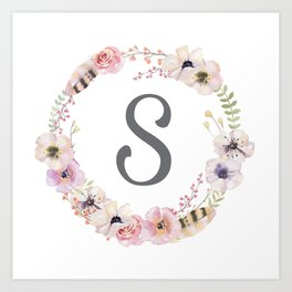 Floral Wreath - S Art Print