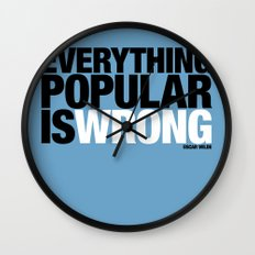 Everything Popular Is Wrong Wall Clock