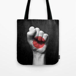 Japanese Flag on a Raised Clenched Fist Tote Bag