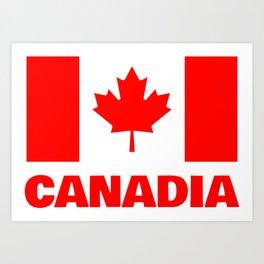 Canadia - Canadan Flag Art Print