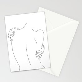 Nude womans back line drawing - Fay Stationery Cards