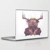 true detective Laptop & iPad Skins featuring True Detective Skull by AnnaCheles