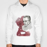 camus Hoodies featuring Camus - The Stranger by Nina Palumbo Illustration