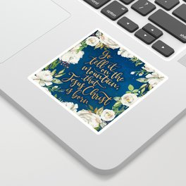 Go tell it on the mountain floral christmas Sticker