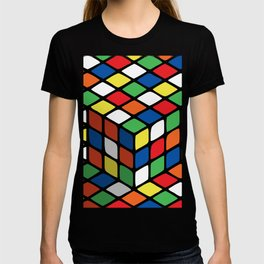 Illusion of the rubik's cube T-shirt