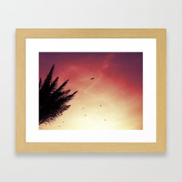 the sky was pink.. Framed Art Print