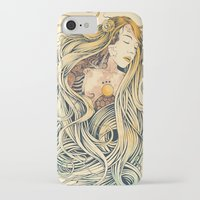 sleeping beauty iPhone & iPod Cases featuring Sleeping Beauty by Azrhon
