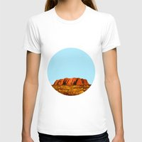 polygon T-shirts featuring uluru polygon by Matthias Hennig