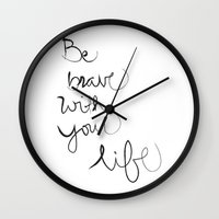 brave Wall Clocks featuring Brave by I Love Decor