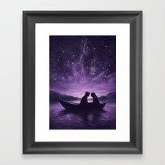 Lovers Under A Starlit Sky Framed Art Print