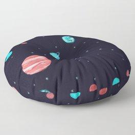 Bright night sky Floor Pillow