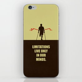 Lab No. 4 -Limitations live only in our minds corporate start-up quotes Poster iPhone Skin