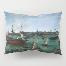 "Hendrik Cornelisz Vroom ""The Arrival of Elector Frederick V of the Palatinate and Elizabeth"" Pillow Sham"