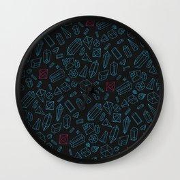 Crystals Pattern Wall Clock