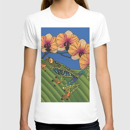 Tree Frog with Orchids T-shirt