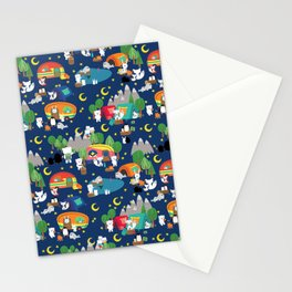 Arctic Animals Camping Starry Sky Stationery Cards